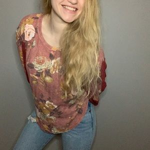 Free People Floral Blouse Top